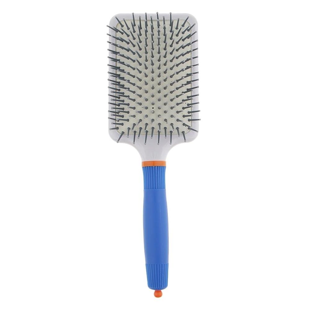 危険沿って枯渇T TOOYFUL プラスチック製 ブラシ 頭皮マッサージブラシ フラットヘアブラシ 櫛 静電気防止 全2色 - ダークブルー