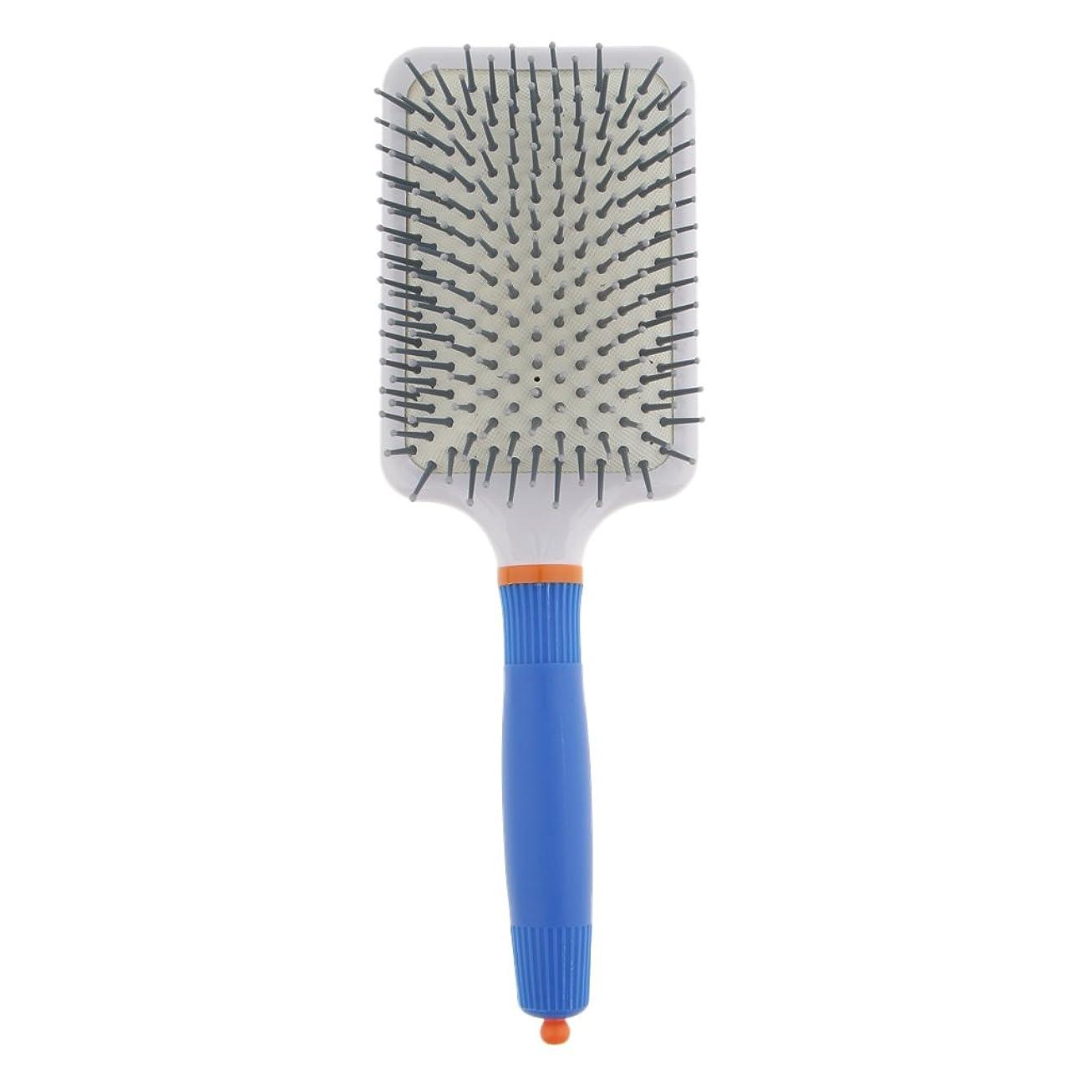 移行するスピン対話T TOOYFUL プラスチック製 ブラシ 頭皮マッサージブラシ フラットヘアブラシ 櫛 静電気防止 全2色 - ダークブルー