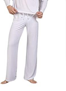 BU2H Mens Elastic Waist Loose Solid Comfy Sleepwear Pajama Lounge Jersey Pant