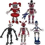 FNAF Figuras de acción para hermana – 5 piezas de juguetes para fiesta de cinco noches [Funtime...