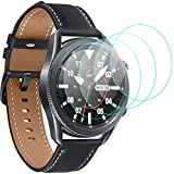 ivoler 4 Unidades Protector de Pantalla para Samsung Galaxy Watch 3 45mm / TicWatch Pro 2020/2018 / TicWatch S2 / Ticwatch E2 / C2 / TicWatch 2 / TicWatch S/E, Cristal Vidrio Templado Premium
