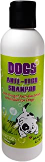 OVANTE Dogs Itch Relief Shampoo Eliminates Fleas Scabies Mange Skin Insects That Causes Skin Itching Irritation and Hair Loss. Cooling Soothing Itch Relief for Dogs Puppies 6.0 oz