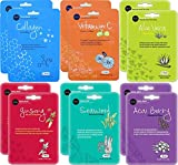 Celavi Essence Facial Face Mask 6x2 Sheet Korea Skin Care Moisturizing 12 Pack