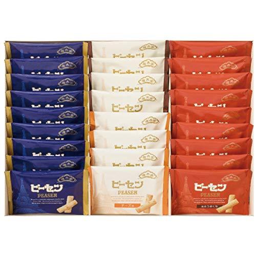 榮太樓總本鋪 ピーセン詰合せ 26袋入り 揚げあられ 国内産もち米使用 ピーナッツ9袋 海老うまくち9袋 黒胡椒4袋 チーズ4袋