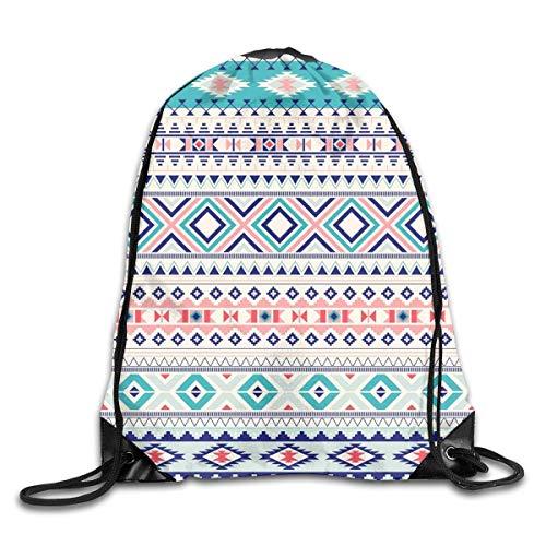 uykjuykj Bolsos De Gimnasio,Mochilas,Tribal 4 Gym Sport Bag Drawstring Bag Backpack Draw Cord Bag for Men Women Gym,Sport,Yoga,Dance,Travel White Lightweight Unique 17x14 IN