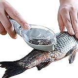 Fish Scaler, Fast Fish Scale Remover, Fish Descaler Tool Skin Brush Scraping Cleaning Peeler Scraper Blue