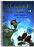 100 canciones infantiles para ukelele Band 2 – populares melodías de cine y TV – Libro de canciones infantiles con colorido clip en forma de corazón – BOE7964 9783954562312