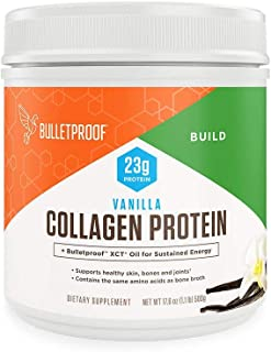 Bulletproof Collagen Protein Powder with XCT MCT Oil, Vanilla, 17.6 Oz, Collagen Peptides and Amino Acids for Healthy Skin...