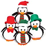 Baker Ross Plüsch-Pinguine (Beanbag) – ideal für Kinder zum Nikolaus (4 Stück)