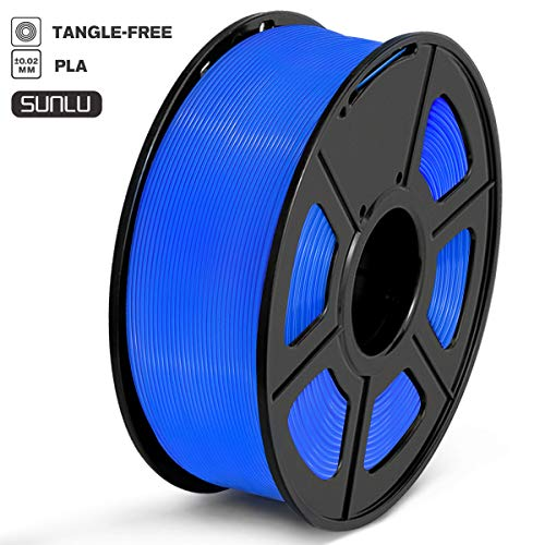 SUNLU PLA Filament 1.75mm 3D Printer Filament PLA Tangle-Free 1kg Spool (2.2lbs), Dimensional Accuracy of +/- 0.02mm PLA Blue