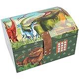 Depesche Dino World 11461 - Cofre del tesoro con código, sonido y luz, aprox....