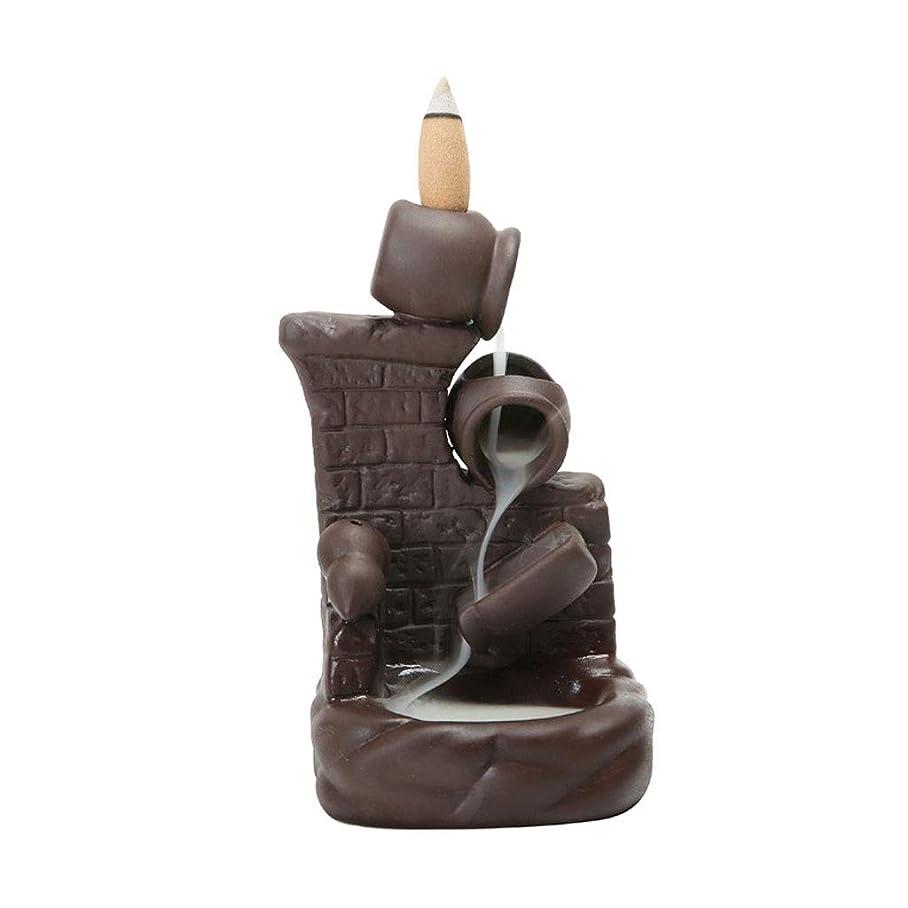 通信する分配します先住民ホームアロマバーナー 紫色の砂煙逆流香バーナーポットバイポットウォールセンサースティック香ホルダークリエイティブホーム アロマバーナー (Color : B)