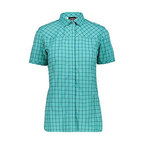CMP Damen Stretch-Hemd mit kurzen Ärmeln, Lake-Ceramic, D38, 30T9896