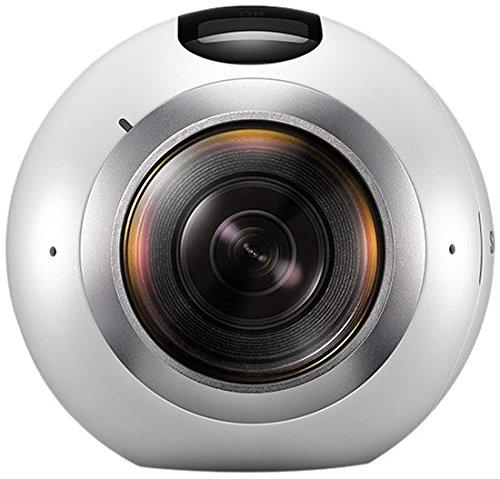 SAMSUNG Gear 360 - Cámara de 15 MP (Sensor Dual CMOS, 1 GB RAM) Color Blanco y Negro