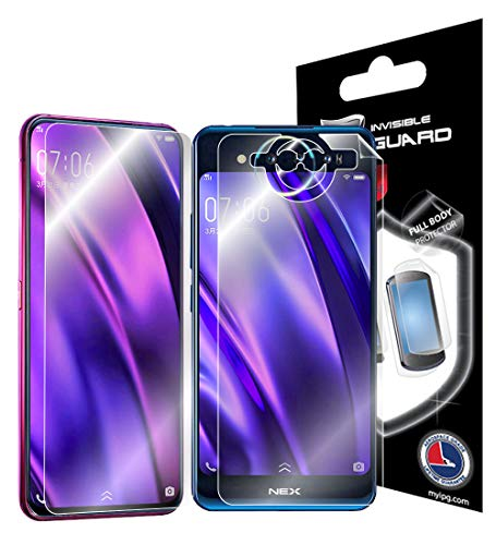 IPG for VIVO Nex Dual Screen Phone Full Body Protector Invisible Touch Screen Sensitive Ultra HD Clear Film Anti Scratch Skin Guard - Smooth/Self-Healing/Bubble -Free Front & Back Screen by