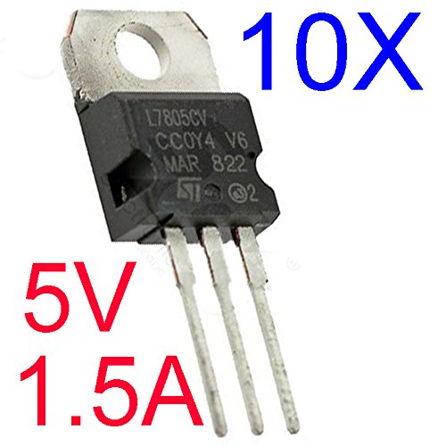 10Pcs LM7805 L7805 7805 TO-220 Voltage Regulator IC
