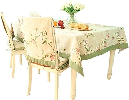ZHANG Tischdecke, Nordische Pastorale Wasserdichte Tischdecke, Größes Pflanzenschutztuch, Kaffeetischdecke, Rechteckige Amerikanische Tischdecke (Größe   120  160cm)