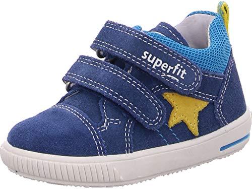 Superfit Baby Jungen MOPPY Sneaker, (Blau/Gelb 80), 21 EU