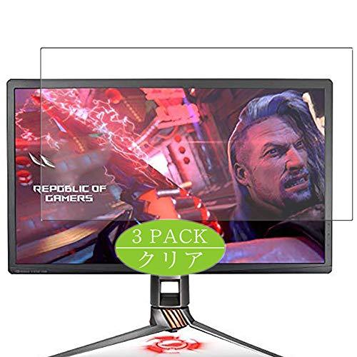 VacFun 3 Piezas HD Claro Protector de Pantalla Compatible con ASUS ROG Swift PG27UQ 27' Display Monitor, Screen Protector Sin Burbujas Película Protectora (Not Cristal Templado) New Version