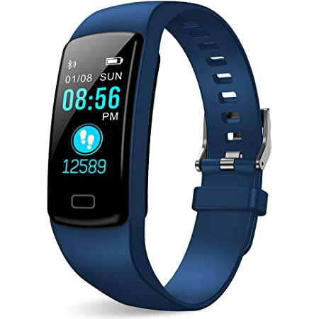 Fitness Tracker, Fitness Watch Health Exercise Activity Tracker Waterproof with Heart Rate Monitor and Sleep Monitor, Step Counter Pedometer Walking Calories Burned for Women Men Kids