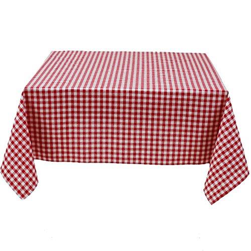 Hans-Textil-Shop Tischdecke 100x100 cm Vichy Karo 1x1 cm Rot Baumwolle (Karomuster, Kariert, Landhaus, Deko)