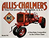 Allis Chalmers Model WC Tractor Plow Retro Vintage Tin Sign TIN Sign 7.8X11.8 INCH