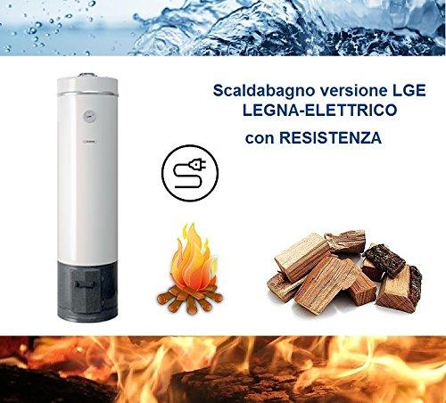 Calentador de agua a leña/eléctrico por acumulación (80
