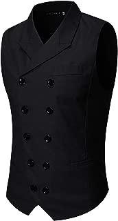 Men's Slim Fit Suit Vests V-Neck Formal Business Sleeveless Dress Suit Separate Waistcoat