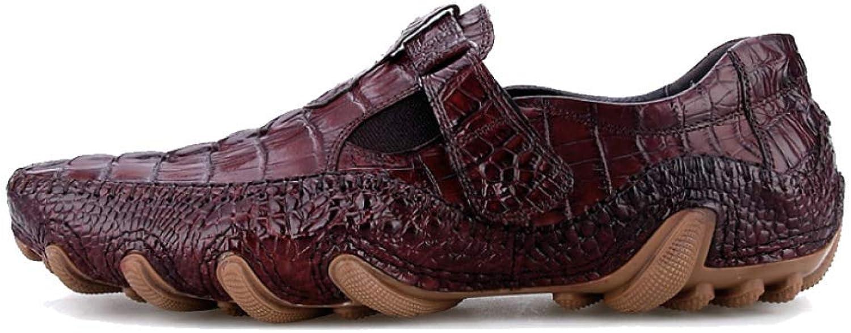 JCZR Lederschuhe Der Mnner Britische Art Beilufige Persnlichkeit Faule Schuhe Hohe Elastische Abnutzung