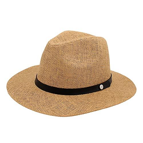 Sombrero Hombre Mujer de Paja, Gorros de Panamá de Verano UPF 50,...