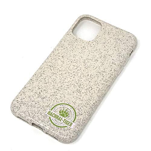 NACHHAL-TIGER 100% biologisch abbaubare nachhaltige Handyhülle für iPhone 11. iPhone 11 Hülle Holz (Bambus). Vegan. Kompostierbar. Plastikfrei. Zero Waste. Unterstützt Nationale Aufforstungsprojekte.