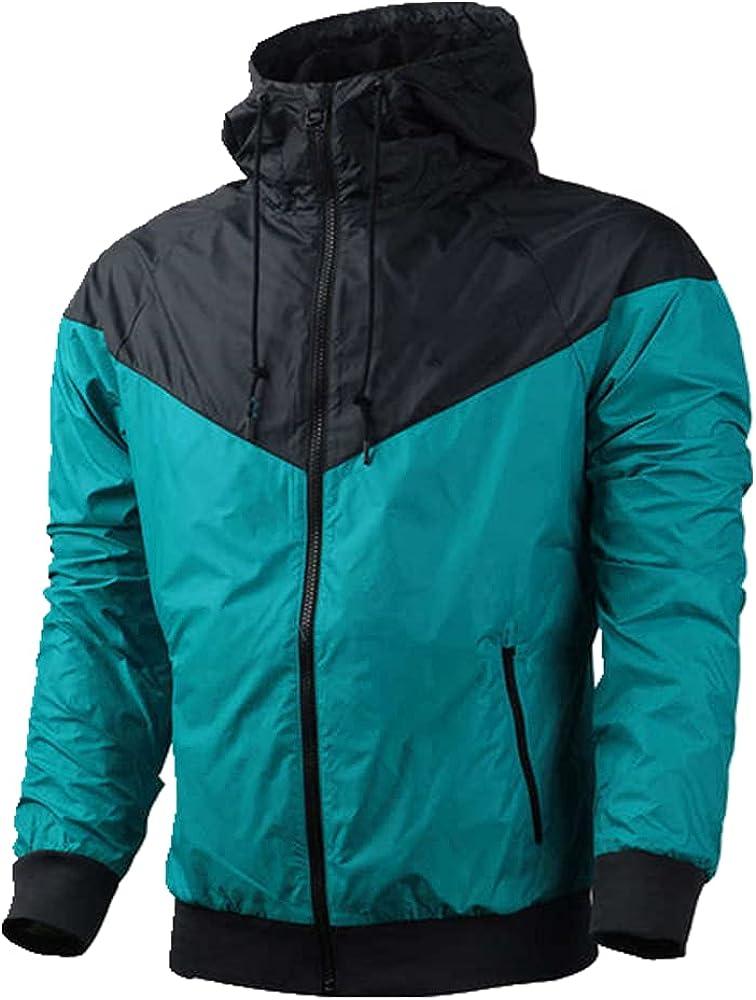 Men's Outdoor Windproof Coat Sports Windbreaker Men Hooded