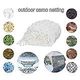 Red de camuflaje blanca de 3 x 4 m, para caza de vida silvestre o para fotografía, ideal para sombrilla, camping, puede personalizarse con protector solar, camping, camuflaje., delete, 5x6m/16x19ft