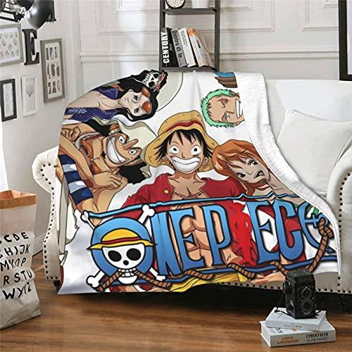 One Piece Couverture Anime Couverture Flanelle Cartoon Couverture Souple Famille Canapé Couverture Bureau Pause Lit Couverture 40 x 50 inches
