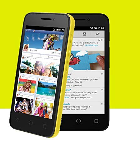 Alcatel One Touch Pixi 3 Sim Free Smartphone - Black