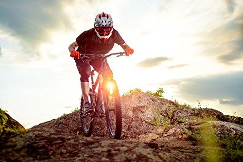 Fahrrad Biker Bike Sport XXL Wandbild Kunstdruck Foto Poster P0598 Größe 90 cm x 60 cm, Größe 90 cm x 60 cm