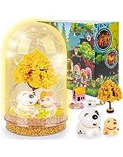 Kit Creatif Enfant Bricolage, Veilleuses Enfants Faire Soi-Même Activites Manuelles pour Enfants Loisir Créatif - Cadeau Filles 4-11 Ans