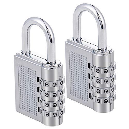ZHEGE Combination Lock 2 Pack, 4 Digit Combination Padlock for Gym, Sports, School & Employee...