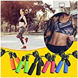 Adjustable Steel Wire Bearing Speed Aerobic Exercise Boxing Skipping Jump Rope by Fitness Factor...