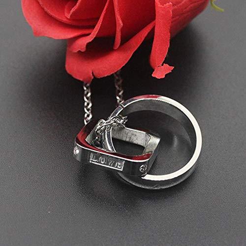 Halskette Kreis Doppelanhänger Lieben Halsketten Herren Edelstahl Stahl Farbketten Halskette Männlich Accessoires Schmuck Auf Dem Großhandel Steelcolor