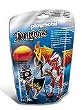 PLAYMOBIL Dragones - Dragón Fuego con Guerrero, Juguete Educativo, Multicolor, 17 x 8 x 24cm, (5463)