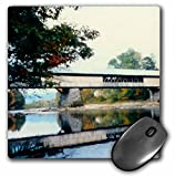 3dRose LLC 8 x 8 x 0.25 Inches Mouse Pad, Covered Bridge and Foliage in The Fall in Vermont (mp_31839_1)