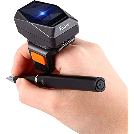 Eyoyo 2D Wearable Ring Barcode Scanner Image 1D QR Bar Code Reader PDF417 Data Matrix Screen Scan for Warehouse Bookstore Library Store Mini 3-in-1 USB Wired /& 2.4G Wireless /& Bluetooth Scanner