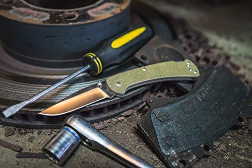 "Buck Knives 112 Slim Pro Lockback Folding Pocket Knife with Thumb Studs and Removable/Reversible Deep Carry Pocket Clip, G-10 Handles, 3"" S30V Blade"