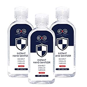 EG Refreshing Hand Sanitizer Gel, Washless Hand Soap Gel, 60 ML 3Pack Travel Cleaning Gentle Hydrating Hand Sanitizer Soothing Gel,Non-irritating,Pump Bottle (60 ML?3Pack)