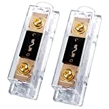 250A ANL Fuse Holder, 250 amp 0/2/4 Gauge AWG Inline ANL Fuse Block with 250 Amp Fuse for Car Audio Amplifier (2 Pack)