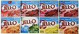 Pack of 8 Jello Sugar Free geletin flavors, 1 each of the following Strawberry, Black Cherry, Lime, Lemon, Cherry, Peach, Raspberry & Orange Each box is .3 Ounce