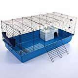 Marko Pet Accessories Rabbit Guinea Pig Pet Cage Hutch Indoor Cages Water Bottle House Accessories (120cm Pet Cage)