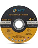 S SATC Cutting Wheel 50 PCS Cut Off Wheel 4.5'x.040'x7/8' Cutting Disc Ultra Thin Metal & Stainless Steel