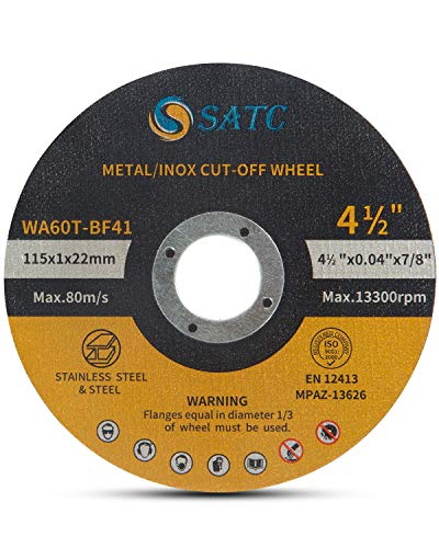 "S SATC Cutting Wheel 50 PCS Cut Off Wheel 4.5""x.040""x7/8"" Cutting Disc Ultra Thin Metal & Stainless Steel"